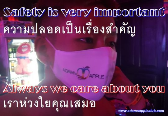 Safety is very important Adams Apple Gay Club Chiang Mai