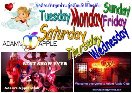 We wish YOU a nice week Adam Apple Club Chiang Mai