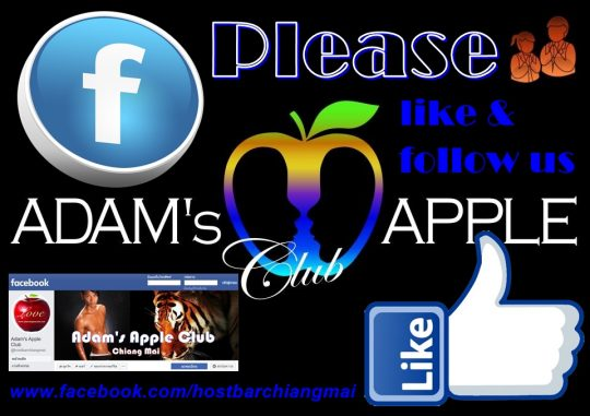 FACEBOOK please like and follow us Adams Apple Club Chiang Mai