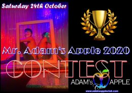 "Don't miss this unique EVENT ""CONTEST Mr. Adam's Apple 2020"" in town @ Adams Apple Club Chiang Mai."