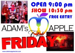 FRIDAY! Time for Adams Apple Club Adult Entertainment See YOU tonight @ Adam's Apple Club. Don't miss the hottest Boys in town!