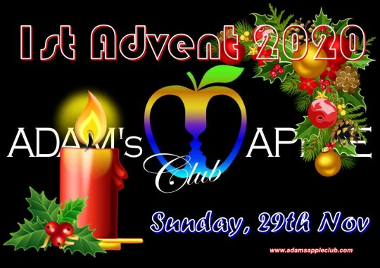 1st Advent 2020 Adamd Apple Club Chiang Mai Adult Entertainment Gay Host Bar Nightclub with Ladyboy Liveshows Cabaret Kathoy