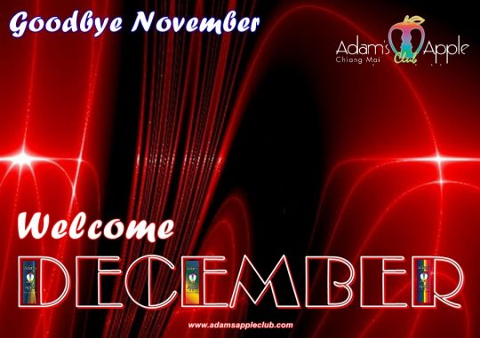 Hello December 2020 Adams Apple Club Chiang Mai. Nightclub Adult Entertainment Host Bar Gay Bar Go-Go Bar