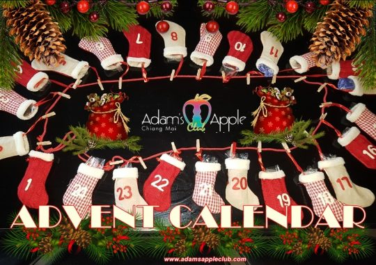 ADVENT CALENDAR 2020 we open every day a little door with surprises Adult Entertainment Chiang Mai Thailand Host Bar Gay Bar Nightclub Ladyboy Cabaret