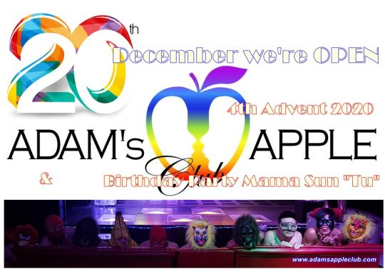 20th December 2020 we are OPEN Host Club Adams Apple Club for Adult Entertainment in Chiang Mai Go Go Bar บาร์เกย์เชียงใหม่