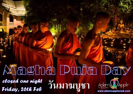 Magha Puja Day 2021 Adams Apple Club Gay Bar Chiang Mai Adult Male Entertainment Nightclub Spotlight Ladyboy Liveshow Cabaret Asian Boys LGBTQ