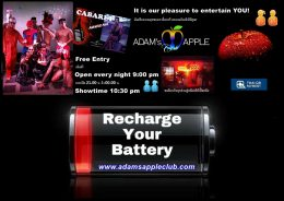 Recharge your batteries Adams Apple Club Gay Bar Chiang Mai If you want to see a really amazing Show, please come to Adams Apple Club in Chiang Mai.